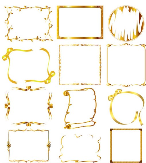 508x567 Ornate Gold Frames Free Vector Ai Format Free Vector Download
