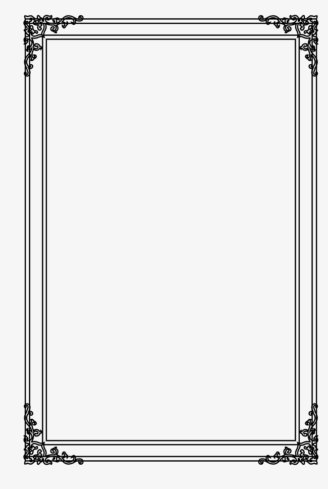650x967 Picture Frame Vector Free Download, Border Frame, Shading Borders