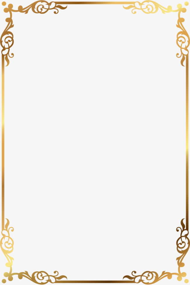 650x972 Vector Gold Pattern Frame, Vector, Golden, Pattern Png And Vector