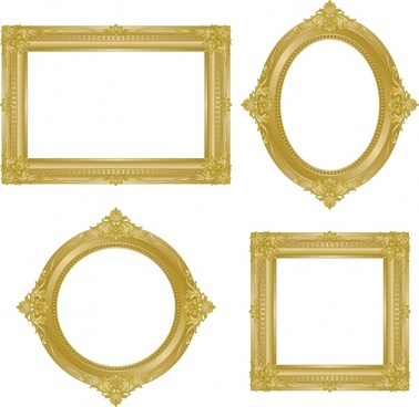 378x368 Antique Gold Frame Vector Free Vector Download (8,375 Free Vector