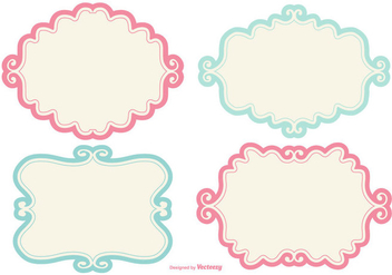 352x247 Cute Doodle Frames Set Free Vector Download 347631 Cannypic