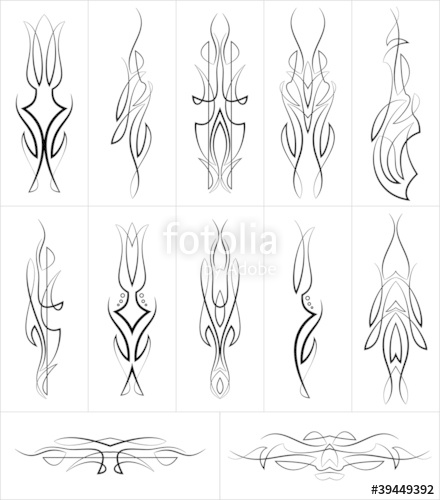 440x500 Pinstripe Design Collection Stock Image And Royalty Free Vector