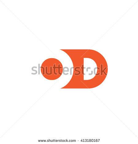 450x470 Od Logo Vector Graphic Branding Letter Stock Vector Hd Royalty