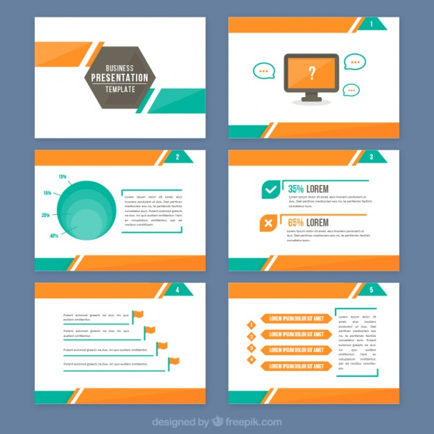 626x626 Graphic Presentation Templates Abstract Presentation With Orange