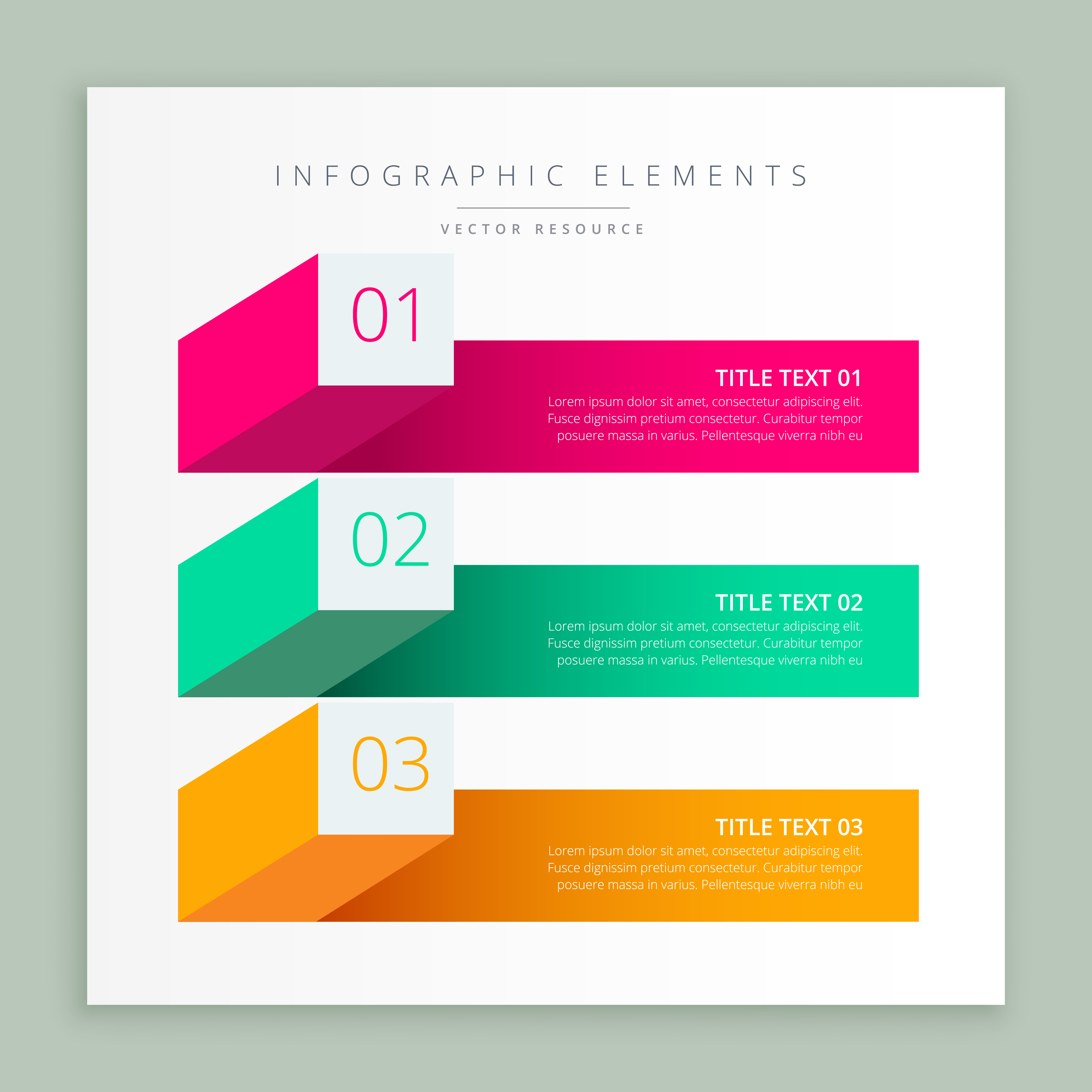 4000x4000 Modern Business Infographic Banner