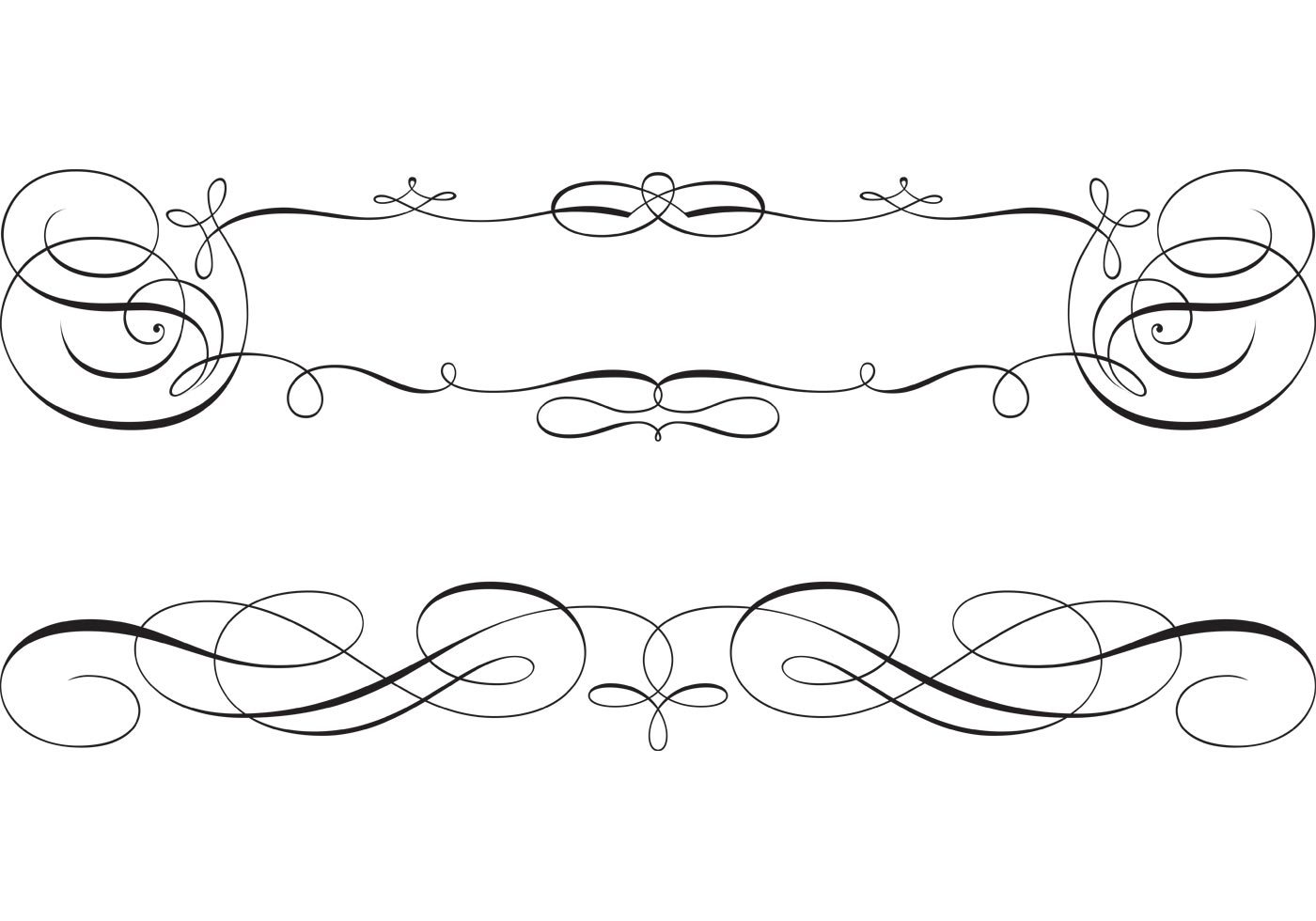 1400x980 Beautiful Swirly Scroll Frame And Border Vectors Download Free