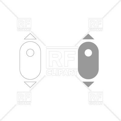 400x400 Scroll Down Computer Mouse Grey Color Set Icon Vector Image