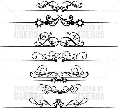487x443 Victorian Scrolls Vector Free Vector Graphics Art Design Blog
