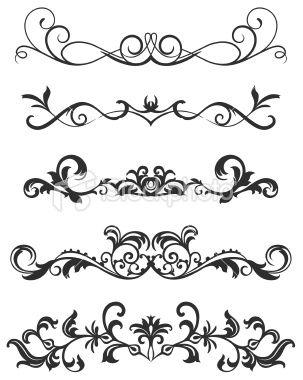 303x380 A Various Scroll Designs. Scroll Design, Vector Art And Art