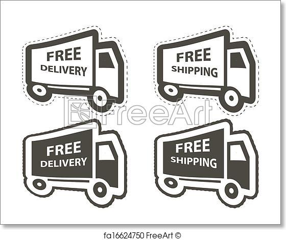 560x470 Free Art Print Of Free Shipping, Delivery Icon Set. Vector