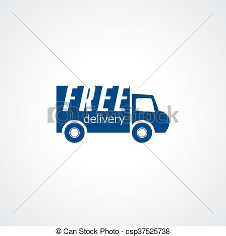 450x470 Free Delivery, Free Shipping, 24 Hour And Fast Delivery Icon Vector.