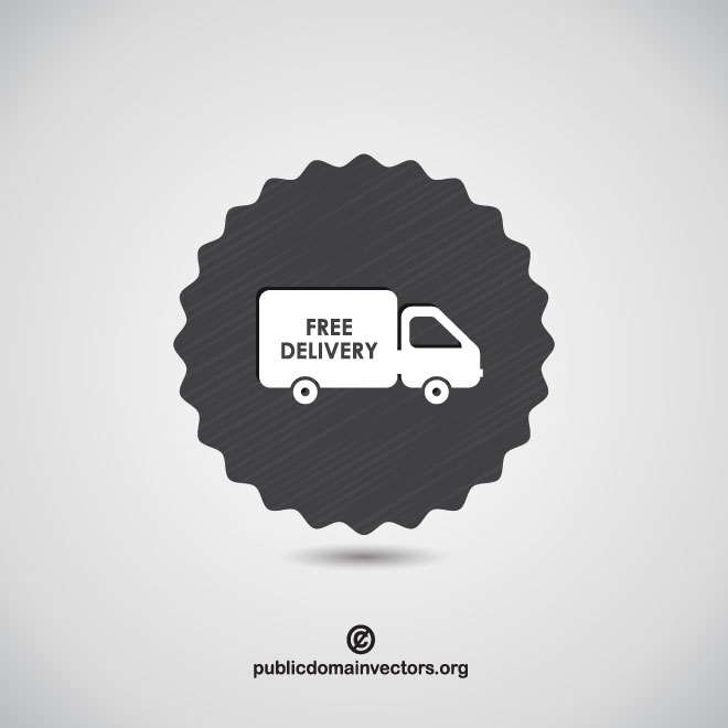 660x660 Free Delivery Vector Icon