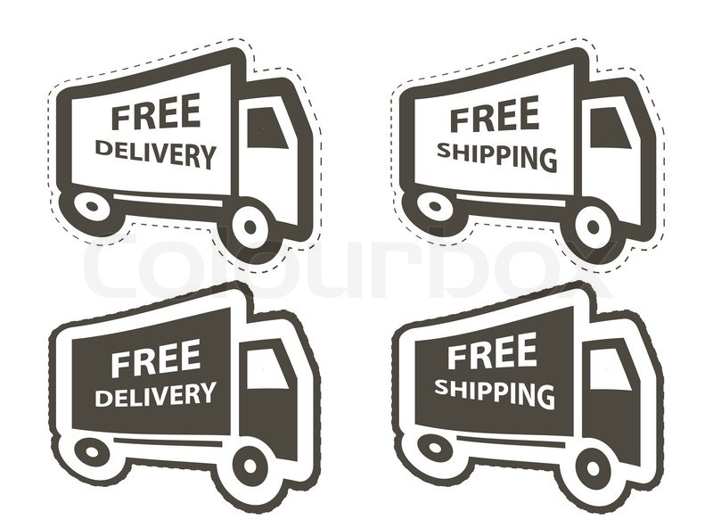 800x592 Free Shipping, Delivery Icon Set Vector Illustration Stock