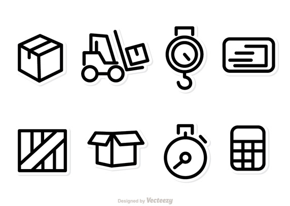 572x407 Logistics And Shipping Icons Vector Free Vector Download In .ai