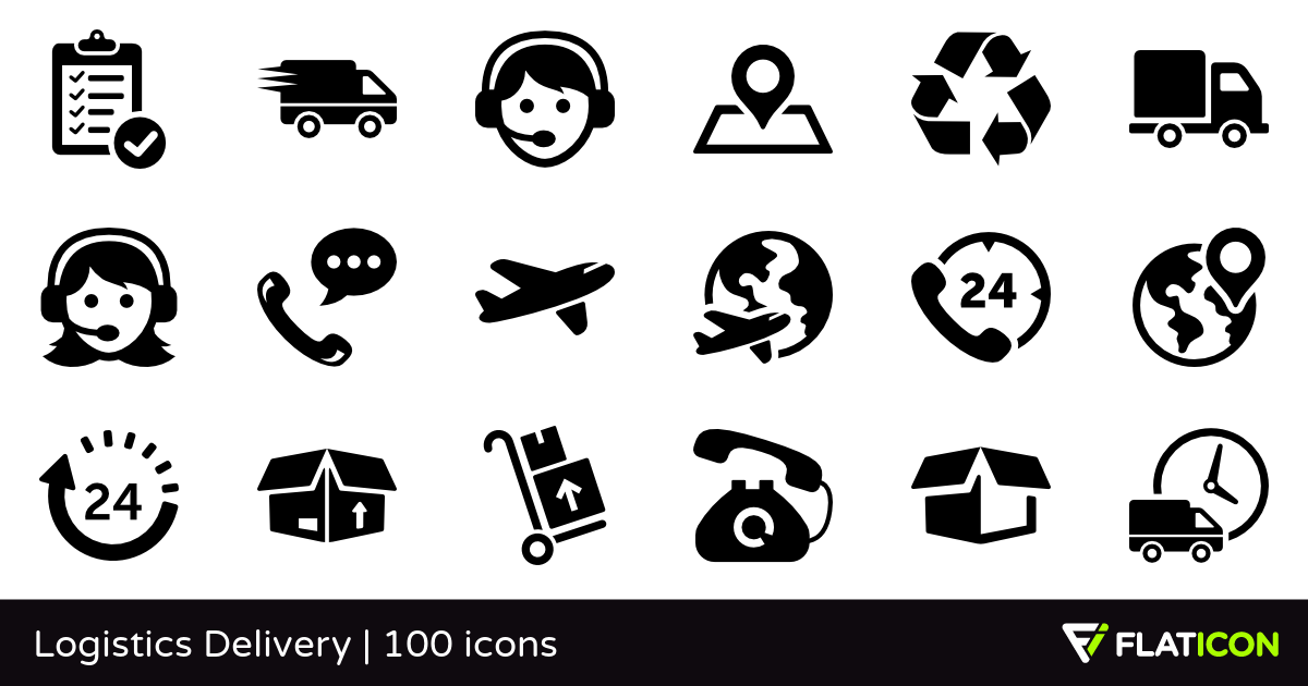 1200x630 Logistics Delivery 100 Free Icons (Svg, Eps, Psd, Png Files)