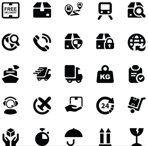 514x507 Shipping Black Icons Vector Ai Format Free Vector Download