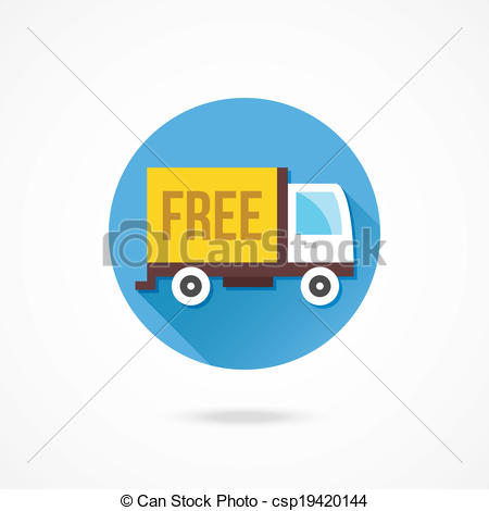 450x470 Vector Free Shipping Truck Icon.