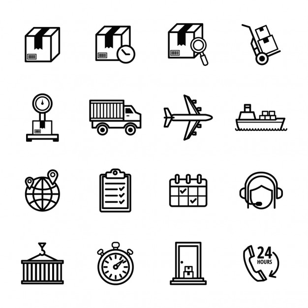 626x626 Delivery Icons Set Vector Free Download