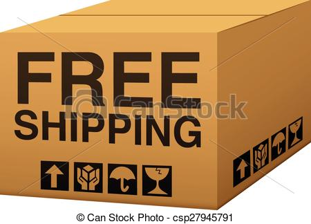 450x324 Free Shipping. A Box With Free Shipping Text.