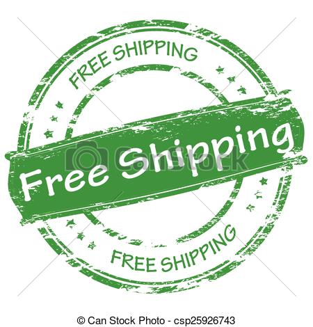 450x470 Free Shipping. Stamp With Text Free Shipping Inside, Vector