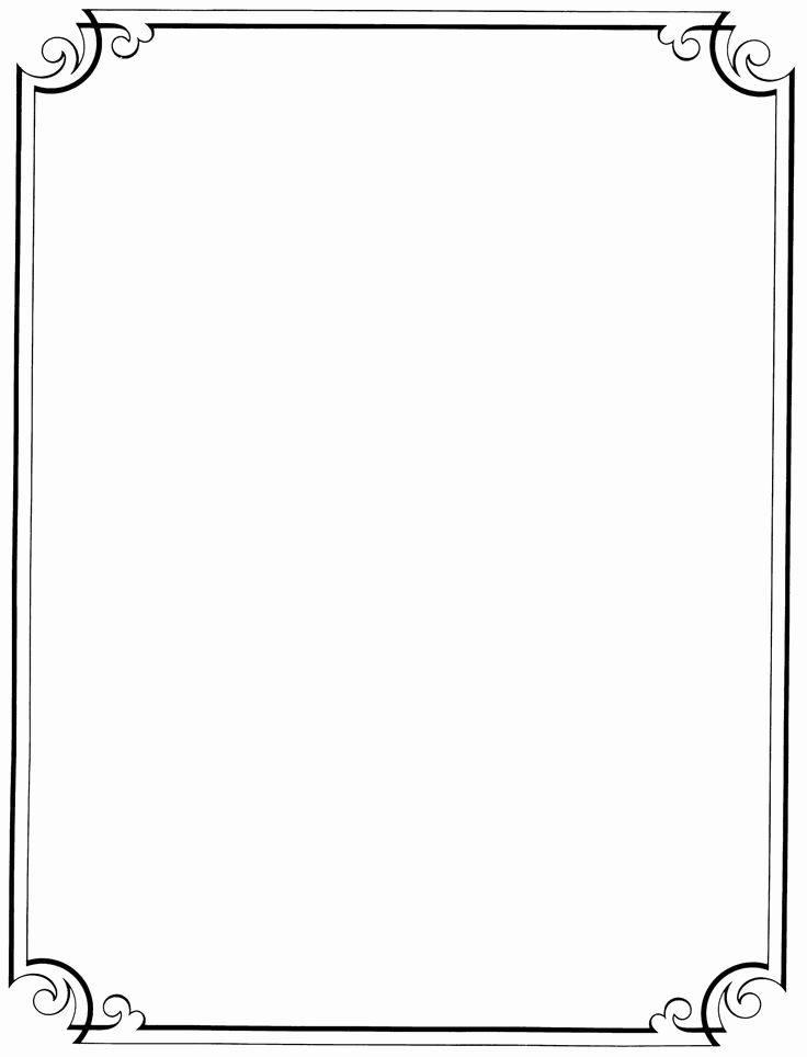 736x964 Letterhead Frame Vector Best Of Free Clipart Simple Borders