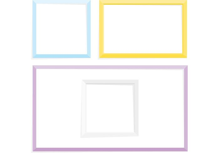 700x490 Simple Frame Vector Pack