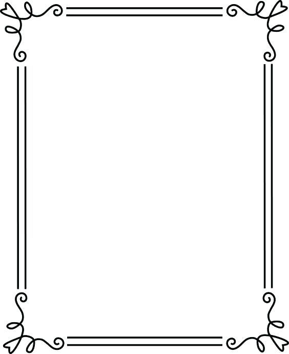 564x690 Simple Picture Frames Silver Frames Vector Graphics Perfect For