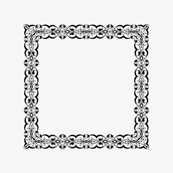 600x600 Simple Square Frame, Square Vector, Frame Vector, Frame Png And
