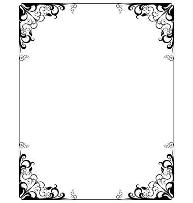 380x400 Simple Decorative Frame Vector Clipart Panda