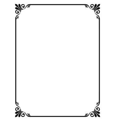 380x400 Simple Ornamental Decorative Frame Vector 631376