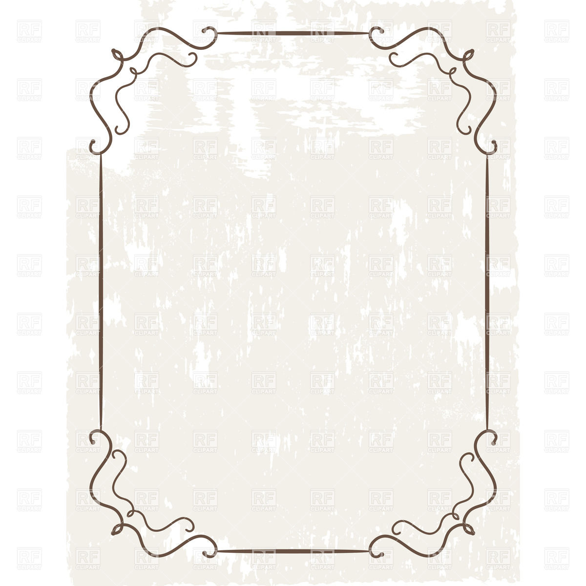 1200x1200 Simple Vintage Frame On Grungy Background Vector Image Vector