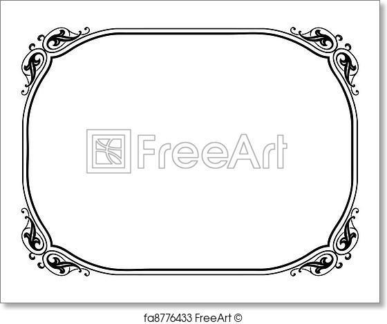 560x470 Free Art Print Of Simple Ornamental Decorative Frame. Vector