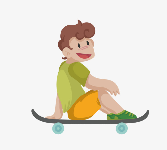 650x585 Vector Material Boy Sitting On Skateboard, Boy Vector, Skateboard