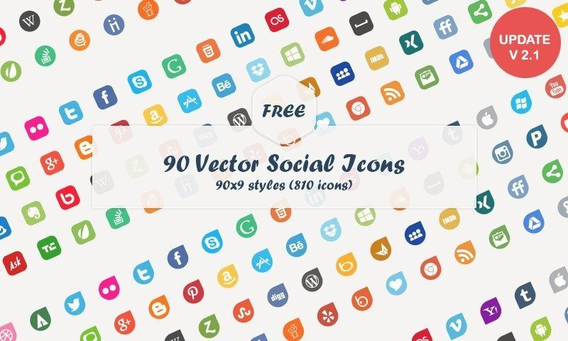 800x480 54 Beautiful [Free!] Social Media Icon Sets For Your Website