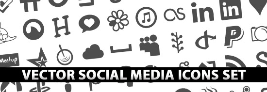 550x190 Free Vector Social Media Icons Set Icons Graphic Design Junction