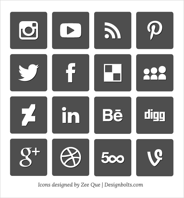 600x645 Social Media Vector Icons Free Download Social Media Logos Vector