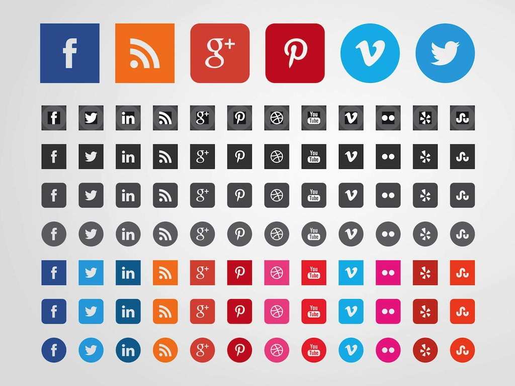 1024x768 Social Websites Icons Vector Art Amp Graphics