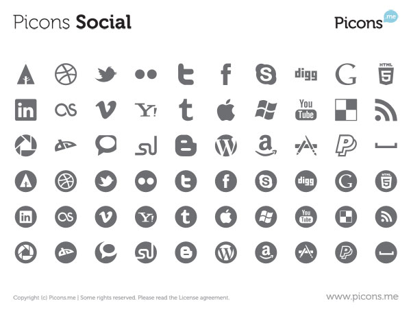 600x455 23 Free Vector Icon Packs For Social Media