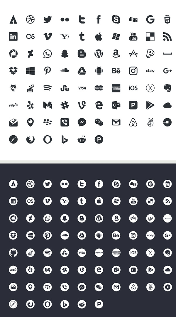 600x1080 Best Free Social Media Icons Sets