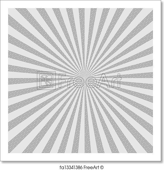 561x581 Free Art Print Of Abstract Background. Starburst, Halftone. Vector