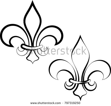 450x431 Fleur De Lis Drawing 44 Elegant Fleur De Lis Flat Vector Icons