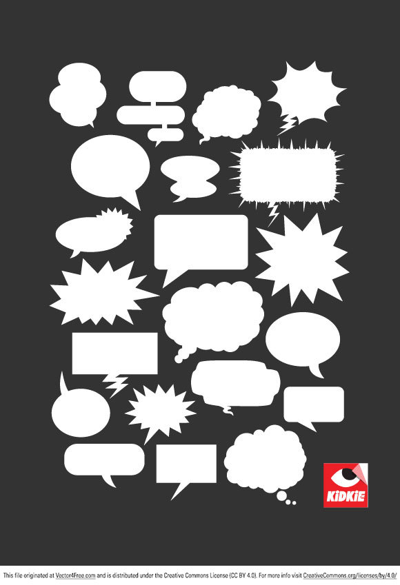 580x849 Free Speech Balloon Vector Pack