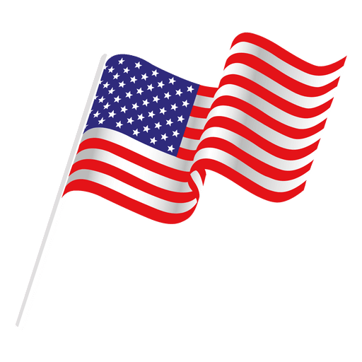 Free Vector American Flag Waving