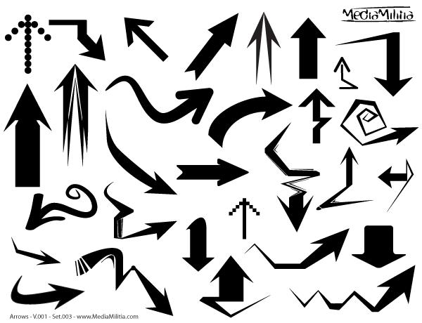 600x460 Free Arrows Free Vector Illustrator Set 3 Psd Files, Vectors