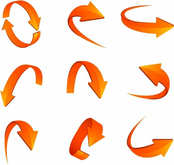 600x567 Set Of Arrows Free Vector In Adobe Illustrator Ai ( .ai
