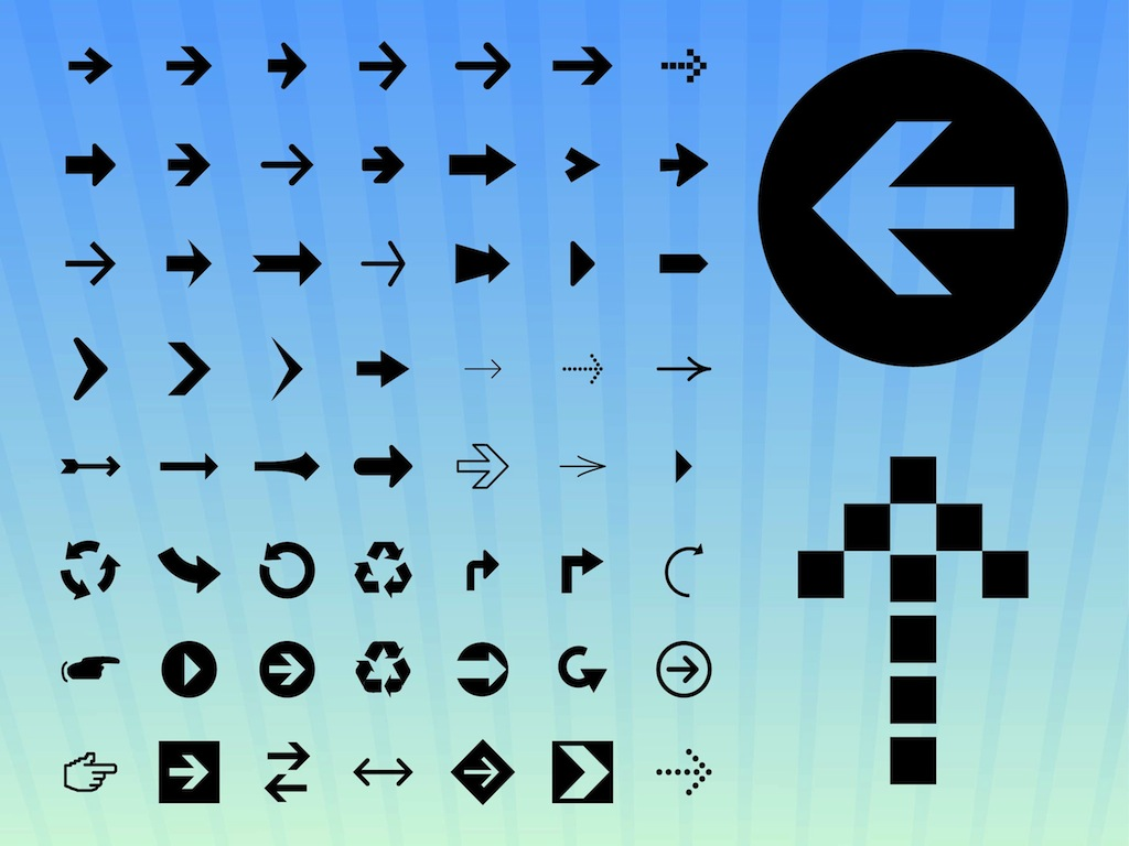 1024x768 Arrow Icons