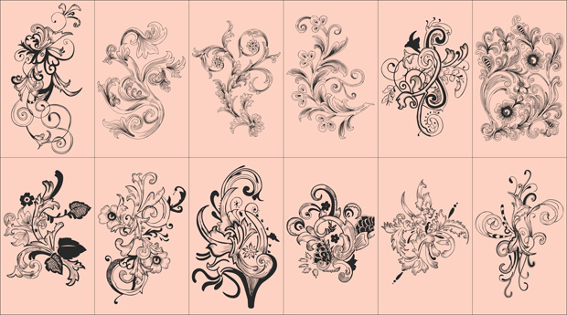 620x345 Flowers Vector Free Download