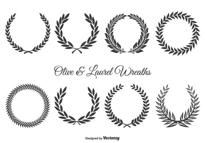 700x490 Olive And Laurel Wreath Set