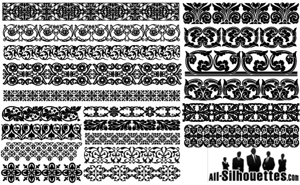 600x369 Massive Collection Of Vintage Vector Graphics Floral Borders