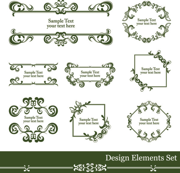 600x574 Vintage Lace Vector Borders 01 Free Download